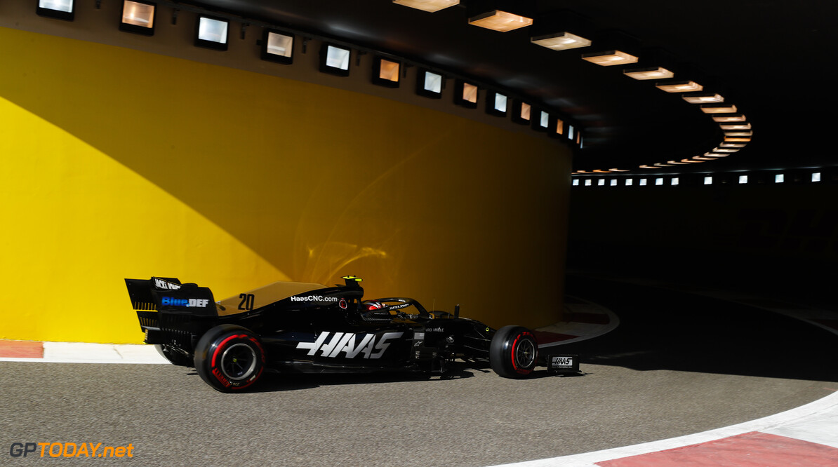 2019 Abu Dhabi GP YAS MARINA CIRCUIT, UNITED ARAB EMIRATES - NOVEMBER 29: Kevin Magnussen, Haas VF-19 during the Abu Dhabi GP at Yas Marina Circuit on November 29, 2019 in Yas Marina Circuit, United Arab Emirates. (Photo by Steven Tee / LAT Images) 2019 Abu Dhabi GP Steven Tee  United Arab Emirates  action