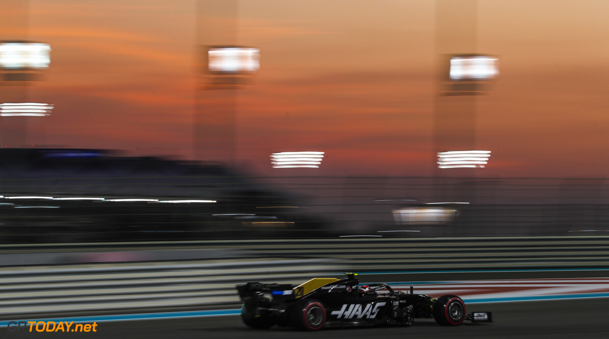 2019 Abu Dhabi GP YAS MARINA CIRCUIT, UNITED ARAB EMIRATES - NOVEMBER 29: Kevin Magnussen, Haas VF-19 during the Abu Dhabi GP at Yas Marina Circuit on November 29, 2019 in Yas Marina Circuit, United Arab Emirates. (Photo by Steven Tee / LAT Images) 2019 Abu Dhabi GP Steven Tee  United Arab Emirates  action ts-live
