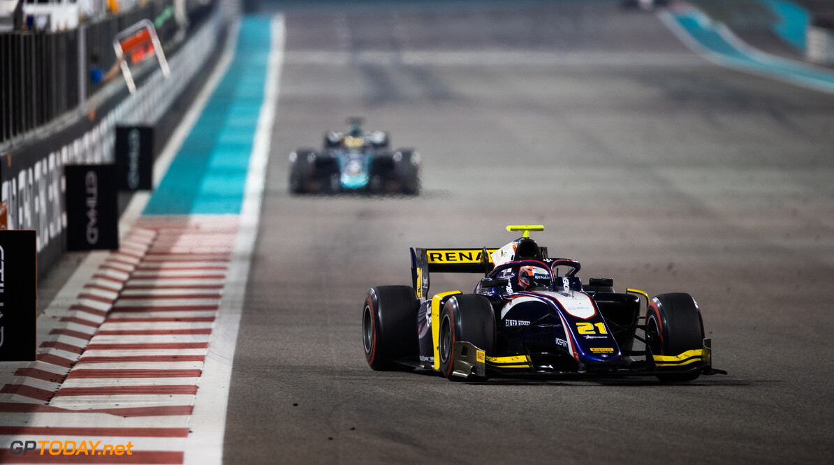 FIA Formula 2 YAS MARINA CIRCUIT, UNITED ARAB EMIRATES - NOVEMBER 30: Christian Lundgaard (DNK, TRIDENT) during the Abu Dhabi at Yas Marina Circuit on November 30, 2019 in Yas Marina Circuit, United Arab Emirates. (Photo by Joe Portlock / LAT Images / FIA F2 Championship) FIA Formula 2 Joe Portlock  United Arab Emirates  FIA Formula 2