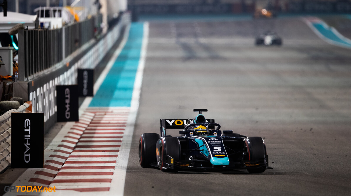 FIA Formula 2 YAS MARINA CIRCUIT, UNITED ARAB EMIRATES - NOVEMBER 30: Sergio Sette Camara (BRA, DAMS) during the Abu Dhabi at Yas Marina Circuit on November 30, 2019 in Yas Marina Circuit, United Arab Emirates. (Photo by Joe Portlock / LAT Images / FIA F2 Championship) FIA Formula 2 Joe Portlock  United Arab Emirates  FIA Formula 2
