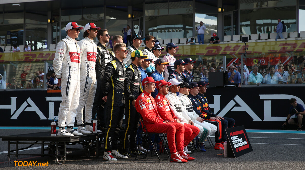 Formula One World Championship 2019 Drivers photo. 01.12.2019. Formula 1 World Championship, Rd 21, Abu Dhabi Grand Prix, Yas Marina Circuit, Abu Dhabi, Race Day. - www.xpbimages.com, EMail: requests@xpbimages.com (C) Copyright: Batchelor / XPB Images Motor Racing - Formula One World Championship - Abu Dhabi Grand Prix - Race Day - Abu Dhabi, UAE XPB Images Abu Dhabi Abu Dhabi  Formel1 Formel F1 Formula 1 Formula1 GP Grand Prix one Abu Dhabi Yas Marina Circuit Yas Marina UAE United Arab Emirates Sunday 01 1 12 2019 Race Portrait December