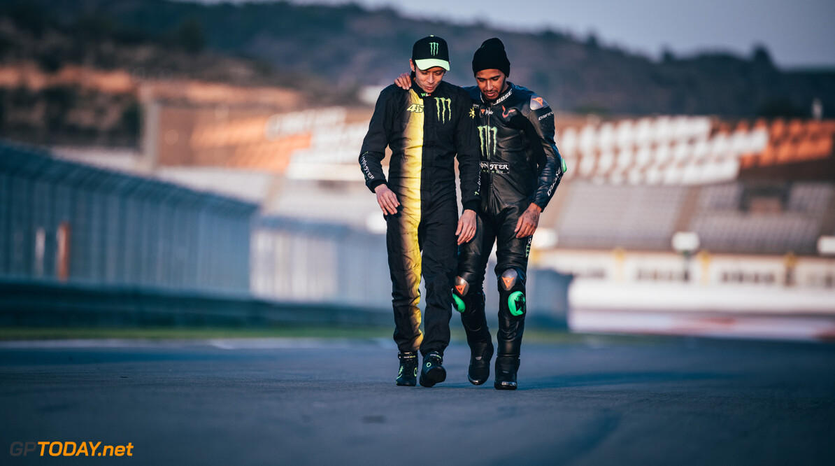 Archive number: M224218 Lewis Hamilton and Valentino Rossi - Valencia #LH44VR46 Lewis Hamilton and Valentino Rossi - Valencia #LH44VR46     2019 Events Lewis, Valentino and Monster - #LH44VR46 Motorsport MMM