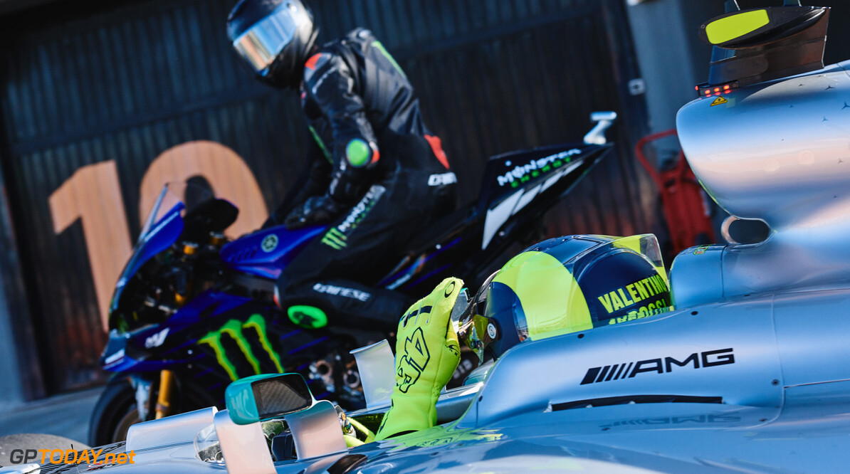 Archive number: M224226 Lewis Hamilton and Valentino Rossi - Valencia #LH44VR46 Lewis Hamilton and Valentino Rossi - Valencia #LH44VR46 Guido De Bortoli Valencia Spain  2019 Events Lewis, Valentino and Monster - #LH44VR46 Motorsport MMM