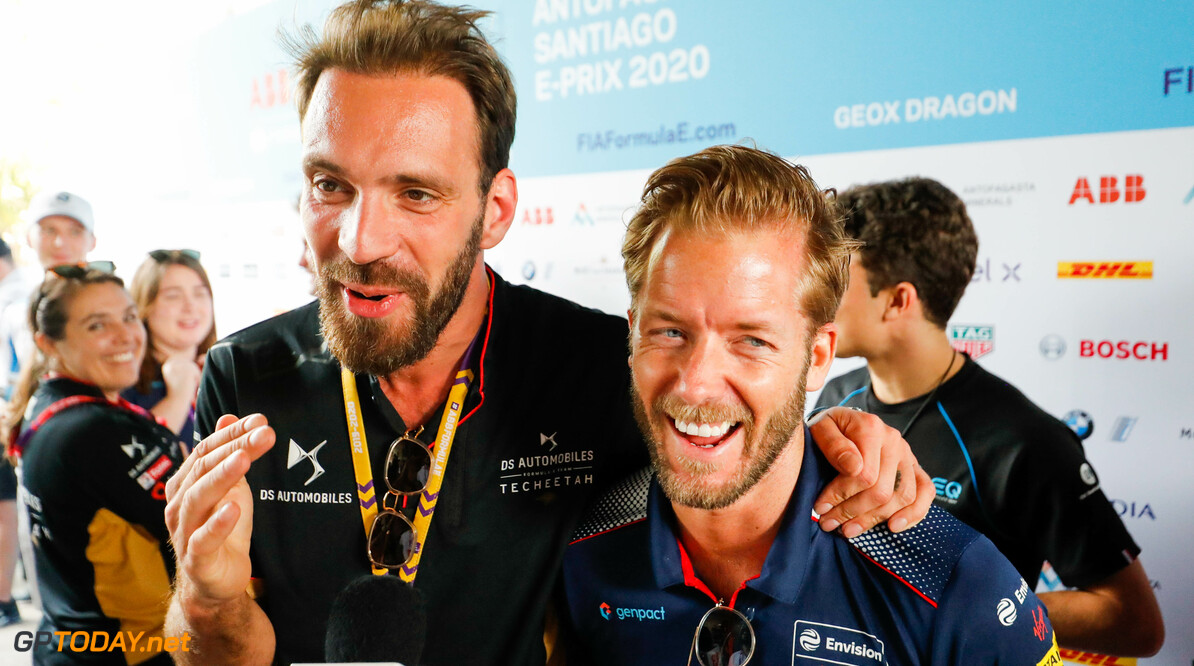 Jean-Eric Vergne (FRA), DS Techeetah hugs Sam Bird (GBR), Envision Virgin Racing   Sam Bloxham