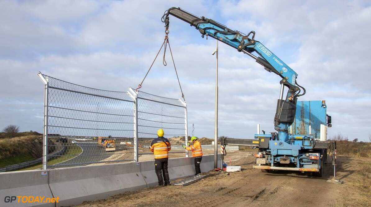 5 february 2020. Renovations at the Dutch racetrack in Zandvoort. After 35 years, the Dutch Grand Prix will return to Holland from 1-3 mai 2020. The renovations will last all winter 2019-2020. Photo (C) Chris Schotanus  chris schotanus    Circuit Zandvoort Drone schotanus Formule1 Dutch Grand Prix DGP