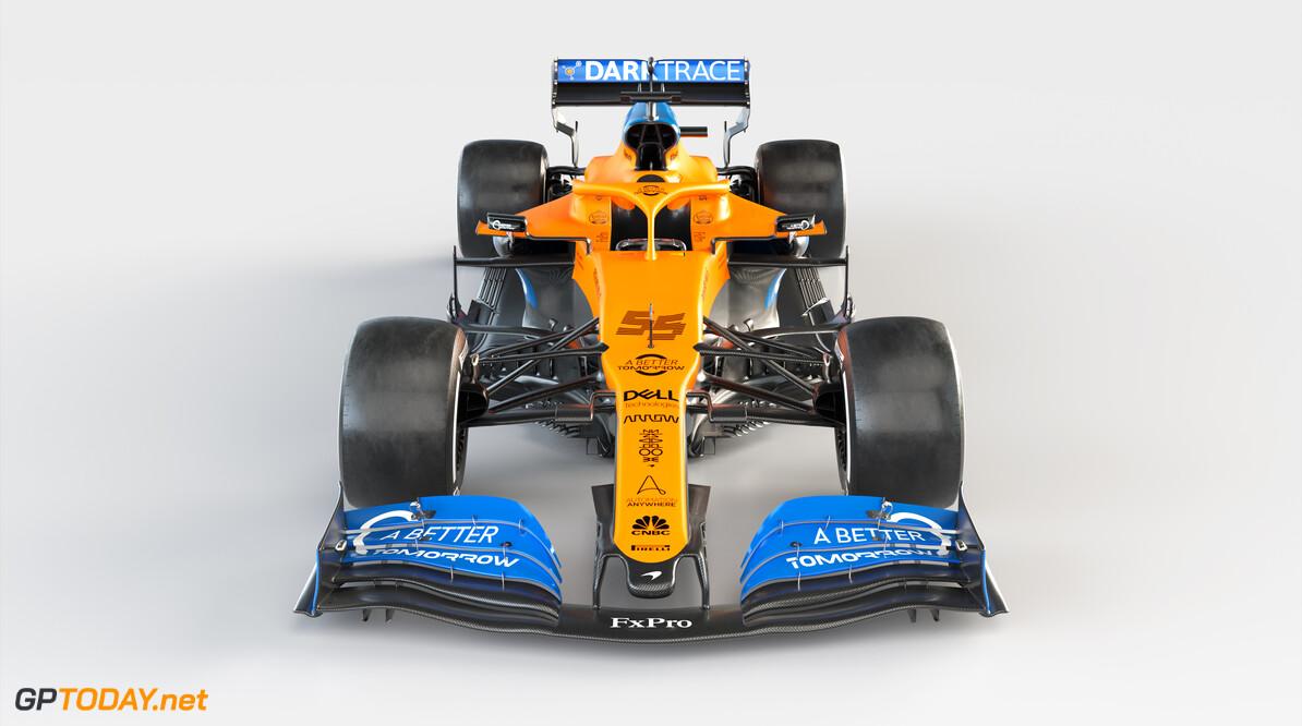 2020 MCL35 Carlos Sainz_Front BAT branded      MCL35 2020 papaya vega mclaren Carlos sainz 55 racing car launch partners