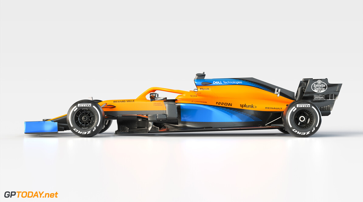 2020 MCL35 Lando Norris_Side Unbranded      MCL35 2020 papaya vega mclaren lando norris 4 racing car launch partners