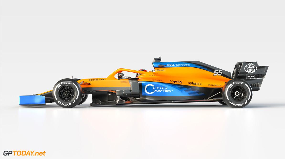 2020 MCL35 Carlos Sainz_Side BAT branded      MCL35 2020 papaya vega mclaren Carlos sainz 55 racing car launch partners