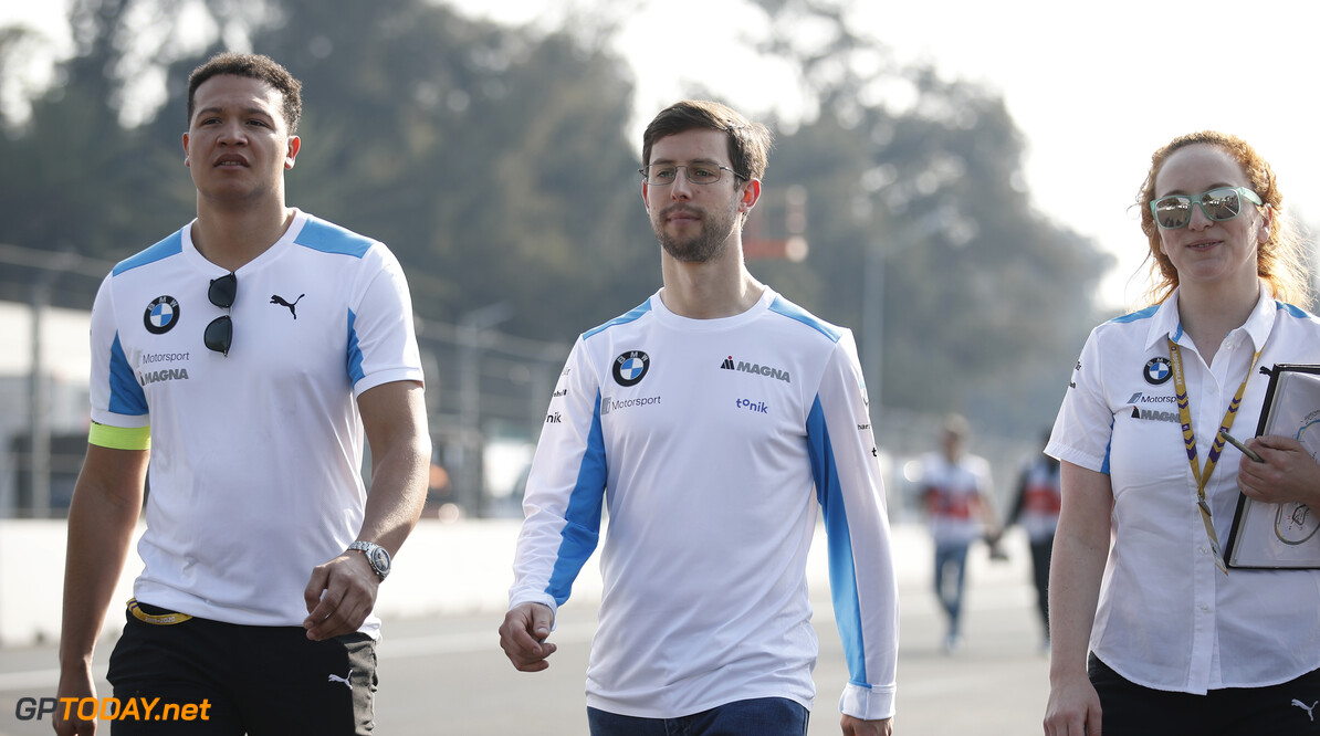Alexander Sims (GBR) BMW I Andretti Motorsports walks the track with members of his team  Joe Portlock    trackwalk