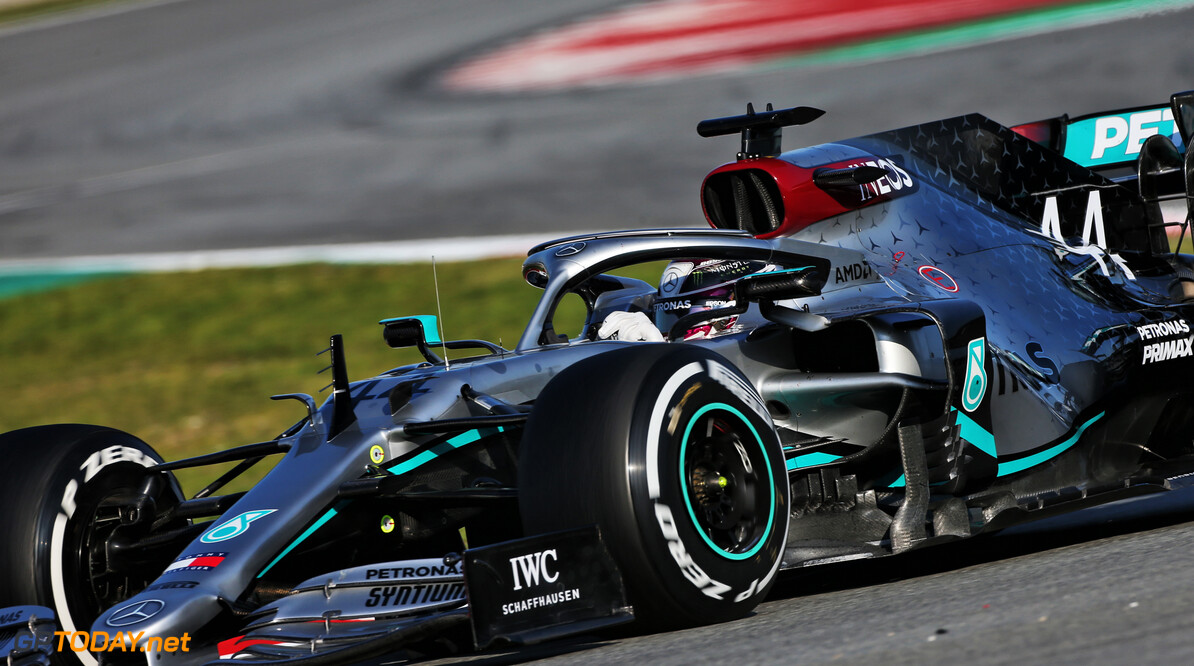 Hamilton leads the opening day of winter testing