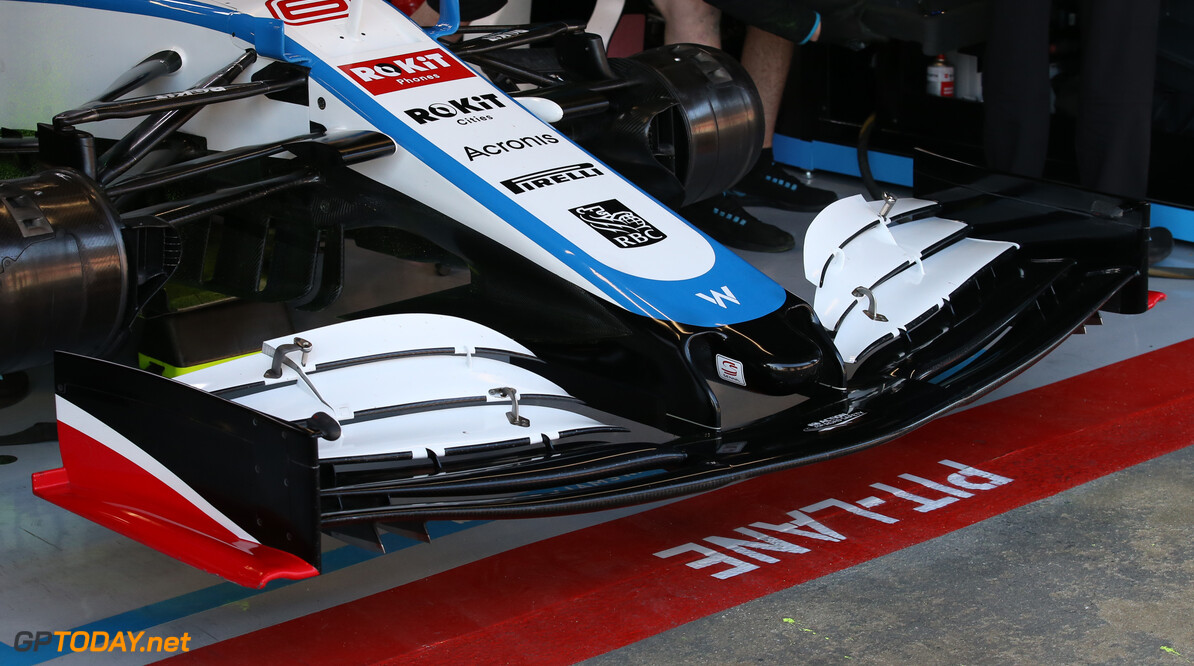 Formula One Testing Williams Racing Front Wing nose cone. 19.02.2020. Formula One Testing, Day One, Barcelona, Spain. Wednesday. - www.xpbimages.com, EMail: requests@xpbimages.com (C) Copyright: Batchelor / XPB Images Motor Racing - Formula One Testing - Test One - Day 1 -  Barcelona, Spain XPB Images Barcelona Spain  Formel1 Formel Testing Test F1 Formula 1 Formula1 one February Spain Barcelona Catalunya Wednesday 19 02 2 2020 Portrait tech technical