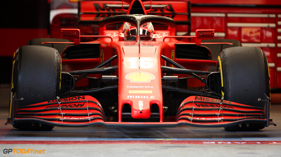 Formula One Testing Ferrari Front Wing nose cone. 19.02.2020. Formula One Testing, Day One, Barcelona, Spain. Wednesday. - www.xpbimages.com, EMail: requests@xpbimages.com (C) Copyright: Batchelor / XPB Images Motor Racing - Formula One Testing - Test One - Day 1 -  Barcelona, Spain XPB Images Barcelona Spain  Formel1 Formel Testing Test F1 Formula 1 Formula1 one February Spain Barcelona Catalunya Wednesday 19 02 2 2020 Portrait tech technical