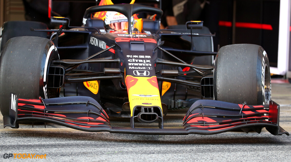 Formula One Testing Red Bull Racing Front Wing nose cone. 19.02.2020. Formula One Testing, Day One, Barcelona, Spain. Wednesday. - www.xpbimages.com, EMail: requests@xpbimages.com (C) Copyright: Batchelor / XPB Images Motor Racing - Formula One Testing - Test One - Day 1 -  Barcelona, Spain XPB Images Barcelona Spain  Formel1 Formel Testing Test F1 Formula 1 Formula1 one February Spain Barcelona Catalunya Wednesday 19 02 2 2020 Portrait tech technical