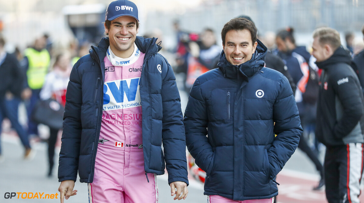 Lance Stroll, Racing Point, and Sergio Perez, Racing Point   Glenn Dunbar    portrait