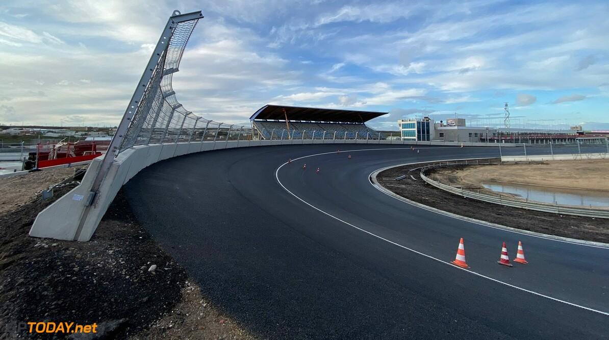 Photos reveal Zandvoort's banked final corner