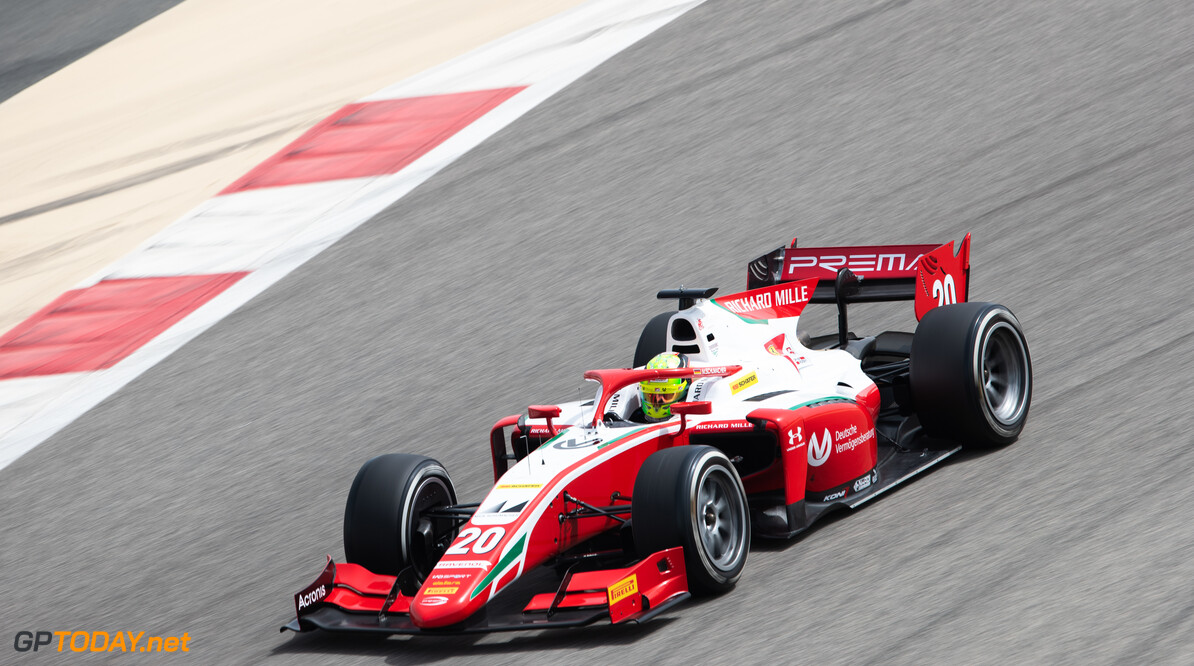 FIA Formula 2 BAHRAIN INTERNATIONAL CIRCUIT, BAHRAIN - MARCH 01: Mick Schumacher (DEU, PREMA RACING) during the Test 1 - Bahrain at Bahrain International Circuit on March 01, 2020 in Bahrain International Circuit, Bahrain. (Photo by Joe Portlock / LAT Images / FIA F2 Championship) FIA Formula 2 Joe Portlock  Bahrain  FIA Formula 2 action Sunday