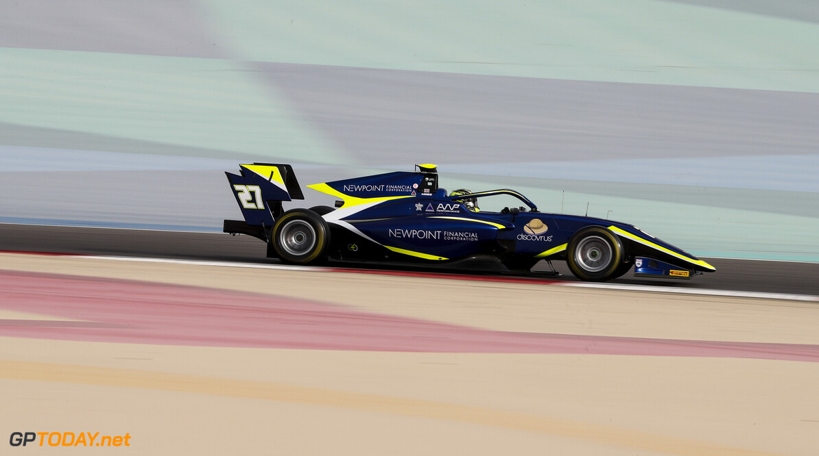 FIA Formula 3 BAHRAIN INTERNATIONAL CIRCUIT, BAHRAIN - MARCH 01: Enaam Ahmed (GBR, CARLIN BUZZ RACING) during the Test 1 - Bahrain at Bahrain International Circuit on March 01, 2020 in Bahrain International Circuit, Bahrain. (Photo by Carl Bingham / LAT Images / FIA F3 Championship) FIA Formula 3 Carl Bingham  Bahrain  action