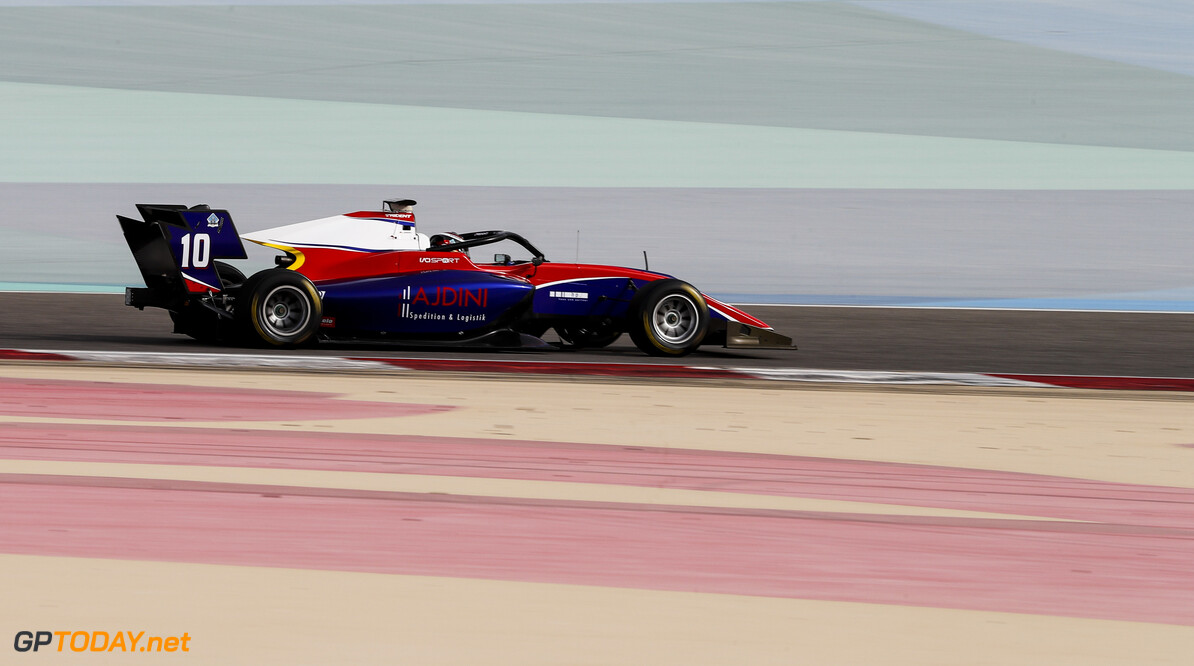 FIA Formula 3 BAHRAIN INTERNATIONAL CIRCUIT, BAHRAIN - MARCH 01: Lirim Zendeli (DEU, TRIDENT) during the Test 1 - Bahrain at Bahrain International Circuit on March 01, 2020 in Bahrain International Circuit, Bahrain. (Photo by Carl Bingham / LAT Images / FIA F3 Championship) FIA Formula 3 Carl Bingham  Bahrain  action