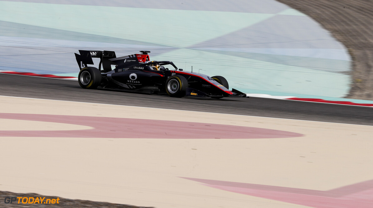 FIA Formula 3 BAHRAIN INTERNATIONAL CIRCUIT, BAHRAIN - MARCH 01: Max Fewtrell (GBR, HITECH GRAND PRIX) during the Test 1 - Bahrain at Bahrain International Circuit on March 01, 2020 in Bahrain International Circuit, Bahrain. (Photo by Carl Bingham / LAT Images / FIA F3 Championship) FIA Formula 3 Carl Bingham  Bahrain  action