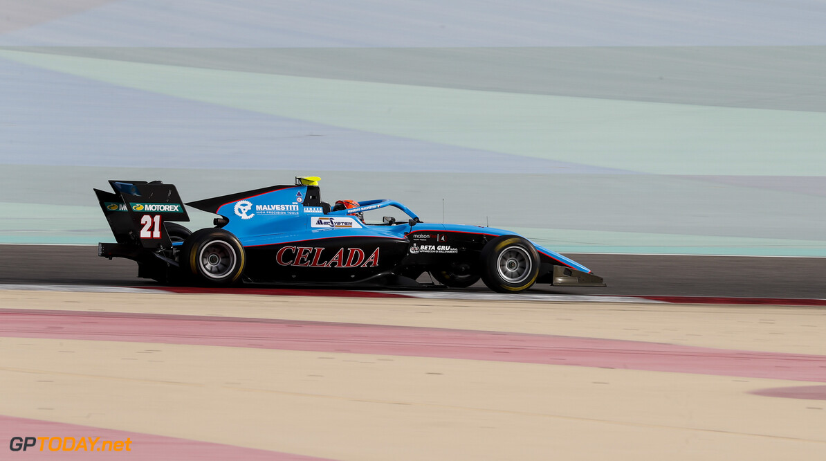 FIA Formula 3 BAHRAIN INTERNATIONAL CIRCUIT, BAHRAIN - MARCH 01: Federico Malvestiti (ITA, JENZER MOTORSPORT) during the Test 1 - Bahrain at Bahrain International Circuit on March 01, 2020 in Bahrain International Circuit, Bahrain. (Photo by Carl Bingham / LAT Images / FIA F3 Championship) FIA Formula 3 Carl Bingham  Bahrain  action