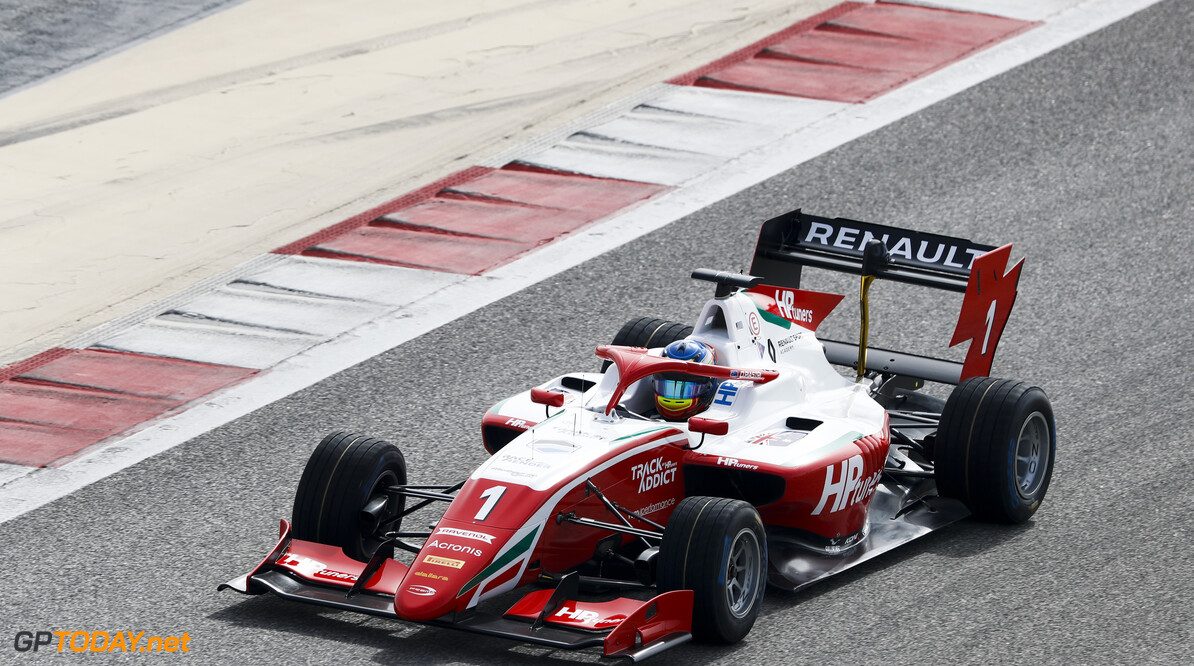 FIA Formula 3 BAHRAIN INTERNATIONAL CIRCUIT, BAHRAIN - MARCH 01: Oscar Piastri (AUS, PREMA RACING) during the Test 1 - Bahrain at Bahrain International Circuit on March 01, 2020 in Bahrain International Circuit, Bahrain. (Photo by Carl Bingham / LAT Images / FIA F3 Championship) FIA Formula 3 Carl Bingham  Bahrain  action