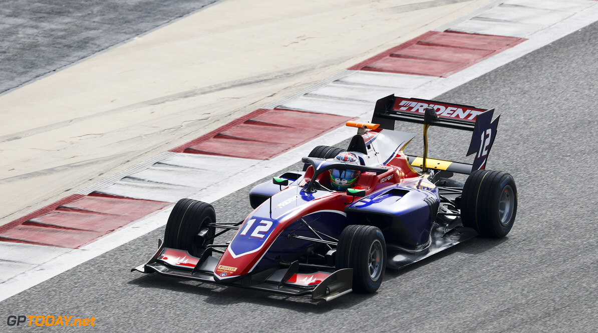 FIA Formula 3 BAHRAIN INTERNATIONAL CIRCUIT, BAHRAIN - MARCH 01: Oliver Caldwell (GBR, TRIDENT) during the Test 1 - Bahrain at Bahrain International Circuit on March 01, 2020 in Bahrain International Circuit, Bahrain. (Photo by Carl Bingham / LAT Images / FIA F3 Championship) FIA Formula 3 Carl Bingham  Bahrain  action