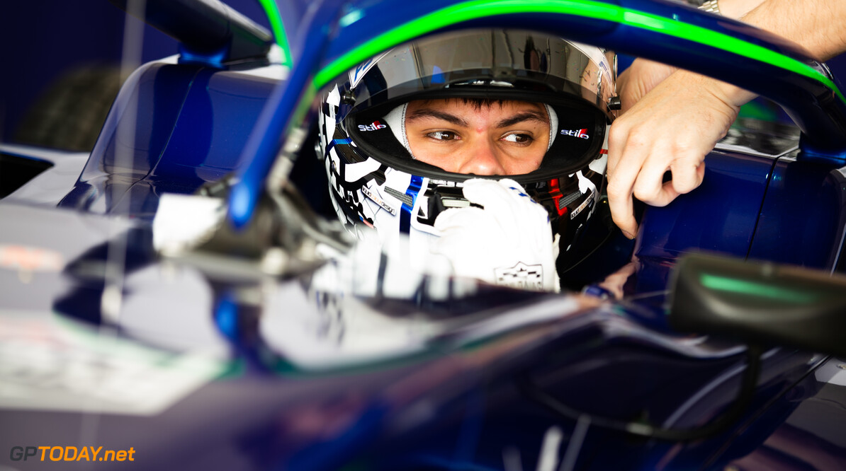 FIA Formula 3 BAHRAIN INTERNATIONAL CIRCUIT, BAHRAIN - MARCH 01: Cameron Das (USA, CARLIN BUZZ RACING) during the Test 1 - Bahrain at Bahrain International Circuit on March 01, 2020 in Bahrain International Circuit, Bahrain. (Photo by Joe Portlock / LAT Images / FIA F3 Championship) FIA Formula 3 Joe Portlock  Bahrain  FIA Formula 3 Portraits Sunday