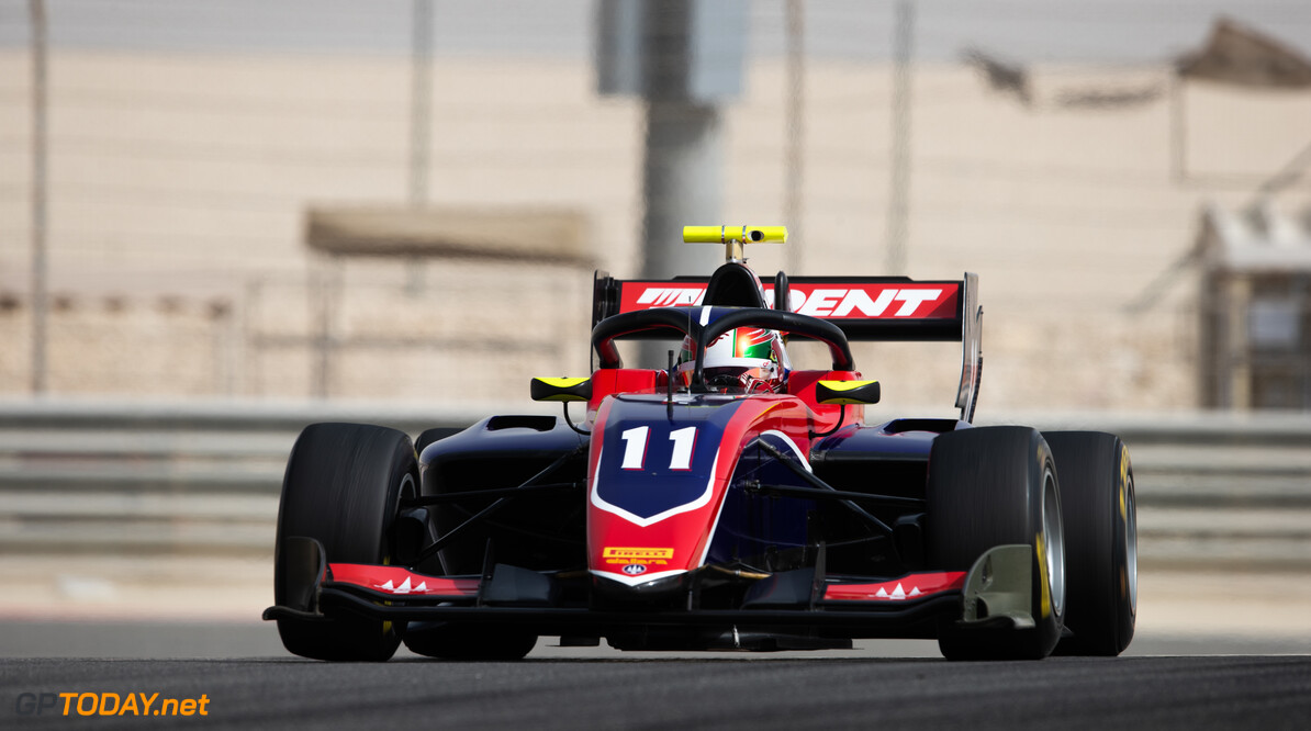 FIA Formula 3 BAHRAIN INTERNATIONAL CIRCUIT, BAHRAIN - MARCH 02: Devlin DeFrancesco (CAN, TRIDENT) during the Test 1 - Bahrain at Bahrain International Circuit on March 02, 2020 in Bahrain International Circuit, Bahrain. (Photo by Joe Portlock / LAT Images / FIA F3 Championship) FIA Formula 3 Joe Portlock  Bahrain  FIA Formula 3 action Monday
