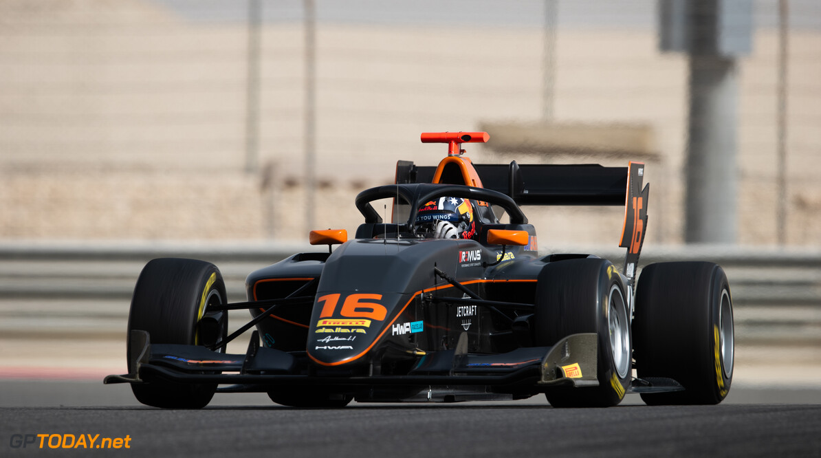 FIA Formula 3 BAHRAIN INTERNATIONAL CIRCUIT, BAHRAIN - MARCH 02: Jack Doohan (AUS, HWA RACELAB) during the Test 1 - Bahrain at Bahrain International Circuit on March 02, 2020 in Bahrain International Circuit, Bahrain. (Photo by Joe Portlock / LAT Images / FIA F3 Championship) FIA Formula 3 Joe Portlock  Bahrain  FIA Formula 3 action Monday