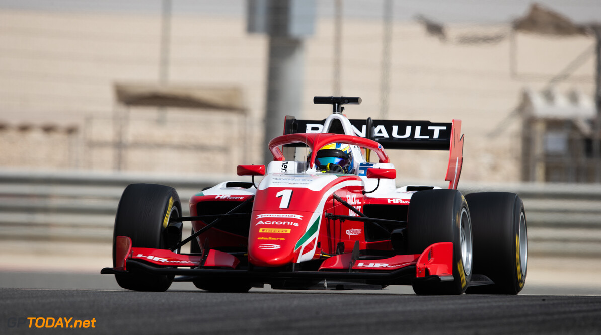 FIA Formula 3 BAHRAIN INTERNATIONAL CIRCUIT, BAHRAIN - MARCH 02: Oscar Piastri (AUS, PREMA RACING) during the Test 1 - Bahrain at Bahrain International Circuit on March 02, 2020 in Bahrain International Circuit, Bahrain. (Photo by Joe Portlock / LAT Images / FIA F3 Championship) FIA Formula 3 Joe Portlock  Bahrain  FIA Formula 3 action Monday