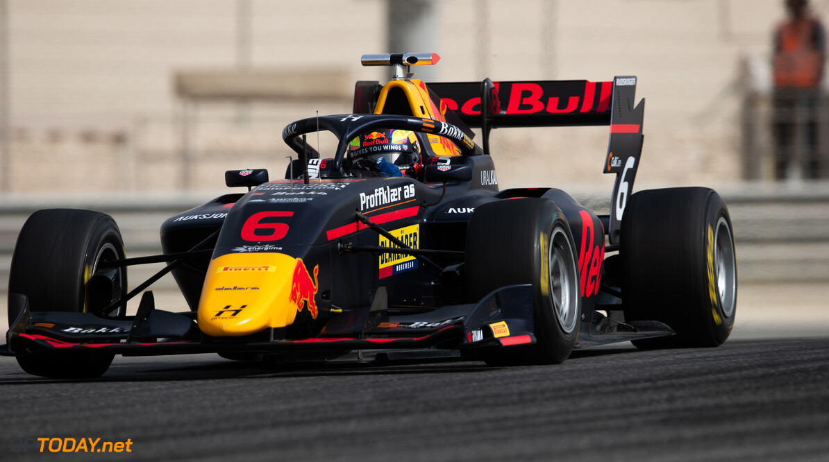 FIA Formula 3 BAHRAIN INTERNATIONAL CIRCUIT, BAHRAIN - MARCH 02: Dennis Hauger (NOR, HITECH GRAND PRIX) during the Test 1 - Bahrain at Bahrain International Circuit on March 02, 2020 in Bahrain International Circuit, Bahrain. (Photo by Joe Portlock / LAT Images / FIA F3 Championship) FIA Formula 3 Joe Portlock  Bahrain  FIA Formula 3 action Monday