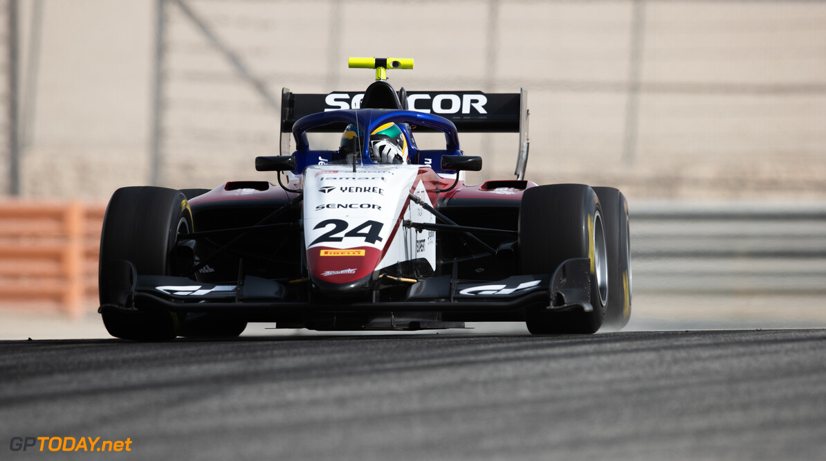 FIA Formula 3 BAHRAIN INTERNATIONAL CIRCUIT, BAHRAIN - MARCH 02: Igor Fraga (BRA, CHAROUZ RACING SYSTEM) during the Test 1 - Bahrain at Bahrain International Circuit on March 02, 2020 in Bahrain International Circuit, Bahrain. (Photo by Joe Portlock / LAT Images / FIA F3 Championship) FIA Formula 3 Joe Portlock  Bahrain  FIA Formula 3 action Monday
