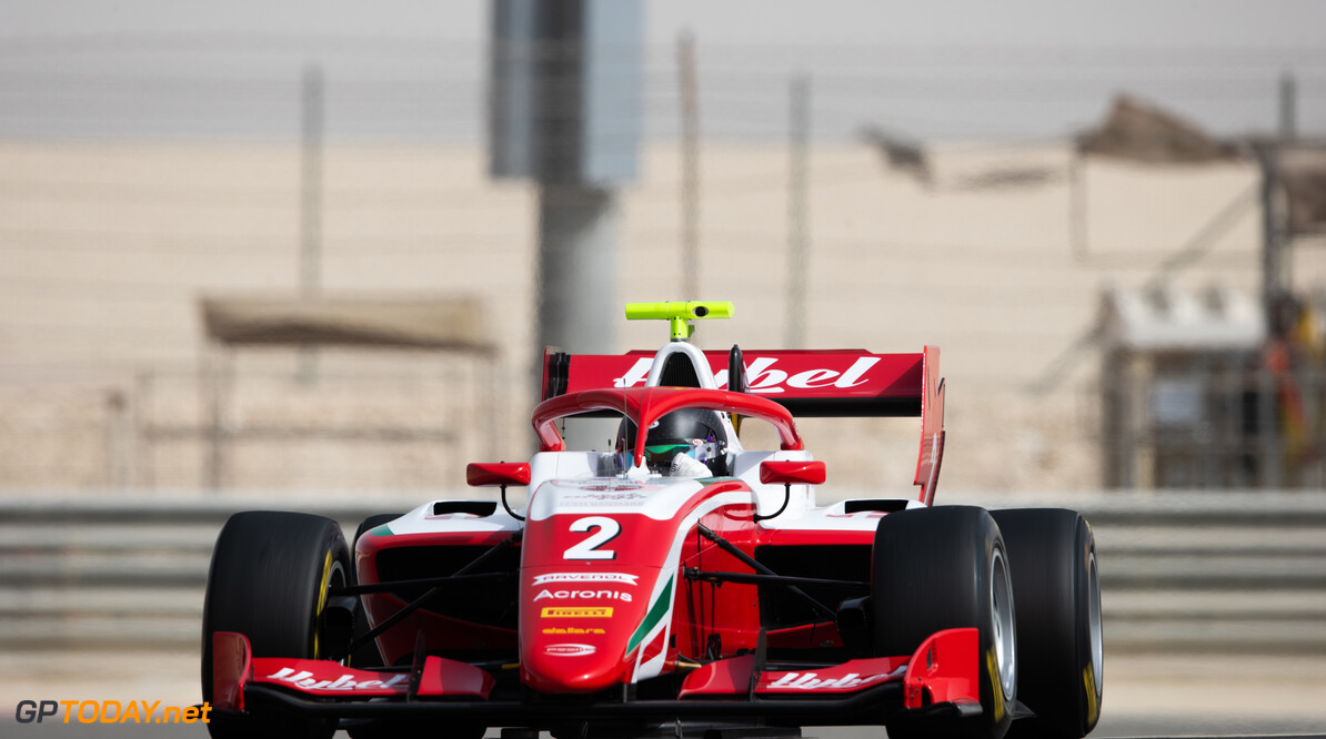 FIA Formula 3 BAHRAIN INTERNATIONAL CIRCUIT, BAHRAIN - MARCH 02: Frederik Vesti (DNK, PREMA RACING) during the Test 1 - Bahrain at Bahrain International Circuit on March 02, 2020 in Bahrain International Circuit, Bahrain. (Photo by Joe Portlock / LAT Images / FIA F3 Championship) FIA Formula 3 Joe Portlock  Bahrain  FIA Formula 3 action Monday