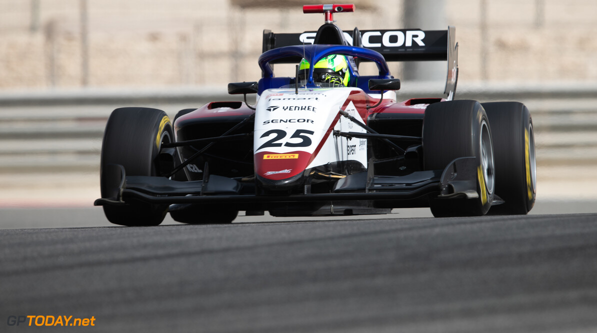 FIA Formula 3 BAHRAIN INTERNATIONAL CIRCUIT, BAHRAIN - MARCH 02: David Schumacher (DEU, CHAROUZ RACING SYSTEM) during the Test 1 - Bahrain at Bahrain International Circuit on March 02, 2020 in Bahrain International Circuit, Bahrain. (Photo by Joe Portlock / LAT Images / FIA F3 Championship) FIA Formula 3 Joe Portlock  Bahrain  FIA Formula 3 action Monday
