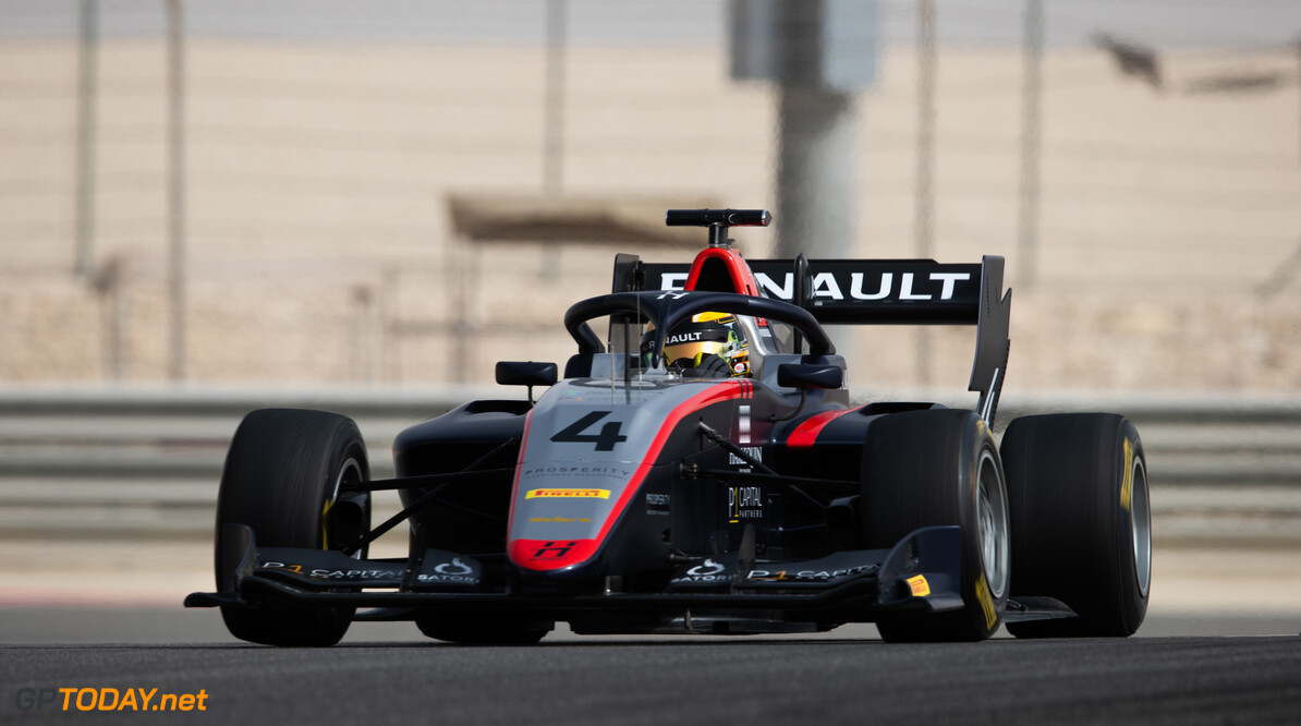 FIA Formula 3 BAHRAIN INTERNATIONAL CIRCUIT, BAHRAIN - MARCH 02: Max Fewtrell (GBR, HITECH GRAND PRIX) during the Test 1 - Bahrain at Bahrain International Circuit on March 02, 2020 in Bahrain International Circuit, Bahrain. (Photo by Joe Portlock / LAT Images / FIA F3 Championship) FIA Formula 3 Joe Portlock  Bahrain  FIA Formula 3 action Monday