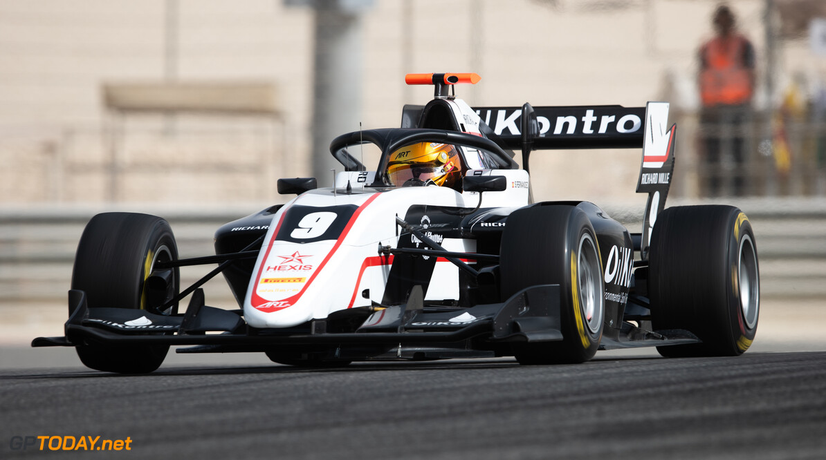FIA Formula 3 BAHRAIN INTERNATIONAL CIRCUIT, BAHRAIN - MARCH 02: Sebastian Fernandez (ESP, ART GRAND PRIX) during the Test 1 - Bahrain at Bahrain International Circuit on March 02, 2020 in Bahrain International Circuit, Bahrain. (Photo by Joe Portlock / LAT Images / FIA F3 Championship) FIA Formula 3 Joe Portlock  Bahrain  FIA Formula 3 action Monday