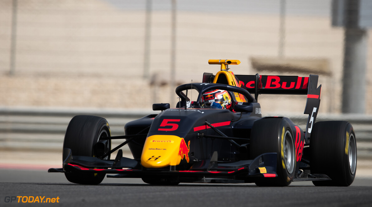 FIA Formula 3 BAHRAIN INTERNATIONAL CIRCUIT, BAHRAIN - MARCH 02: Liam Lawson (NZL, HITECH GRAND PRIX) during the Test 1 - Bahrain at Bahrain International Circuit on March 02, 2020 in Bahrain International Circuit, Bahrain. (Photo by Joe Portlock / LAT Images / FIA F3 Championship) FIA Formula 3 Joe Portlock  Bahrain  FIA Formula 3 action Monday