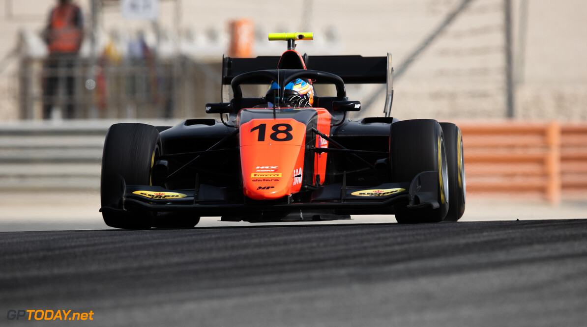 FIA Formula 3 BAHRAIN INTERNATIONAL CIRCUIT, BAHRAIN - MARCH 02: Bent Viscaal (NLD, MP MOTORSPORT) during the Test 1 - Bahrain at Bahrain International Circuit on March 02, 2020 in Bahrain International Circuit, Bahrain. (Photo by Joe Portlock / LAT Images / FIA F3 Championship) FIA Formula 3 Joe Portlock  Bahrain  FIA Formula 3 action Monday