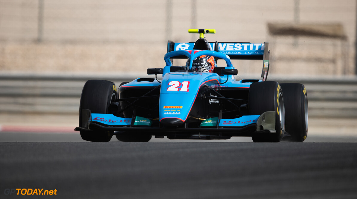 FIA Formula 3 BAHRAIN INTERNATIONAL CIRCUIT, BAHRAIN - MARCH 02: Federico Malvestiti (ITA, JENZER MOTORSPORT) during the Test 1 - Bahrain at Bahrain International Circuit on March 02, 2020 in Bahrain International Circuit, Bahrain. (Photo by Joe Portlock / LAT Images / FIA F3 Championship) FIA Formula 3 Joe Portlock  Bahrain  FIA Formula 3 action Monday
