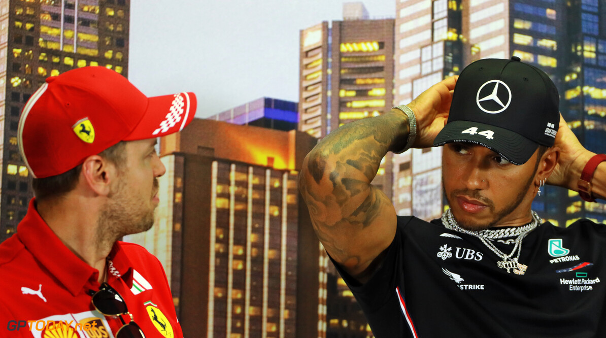 Hamilton brushes off suggestion he's lining up Ferrari switch