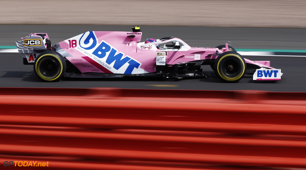 Lance Stroll, Racing Point RP20  Glenn Dunbar Silverstone UK  action TS-Live