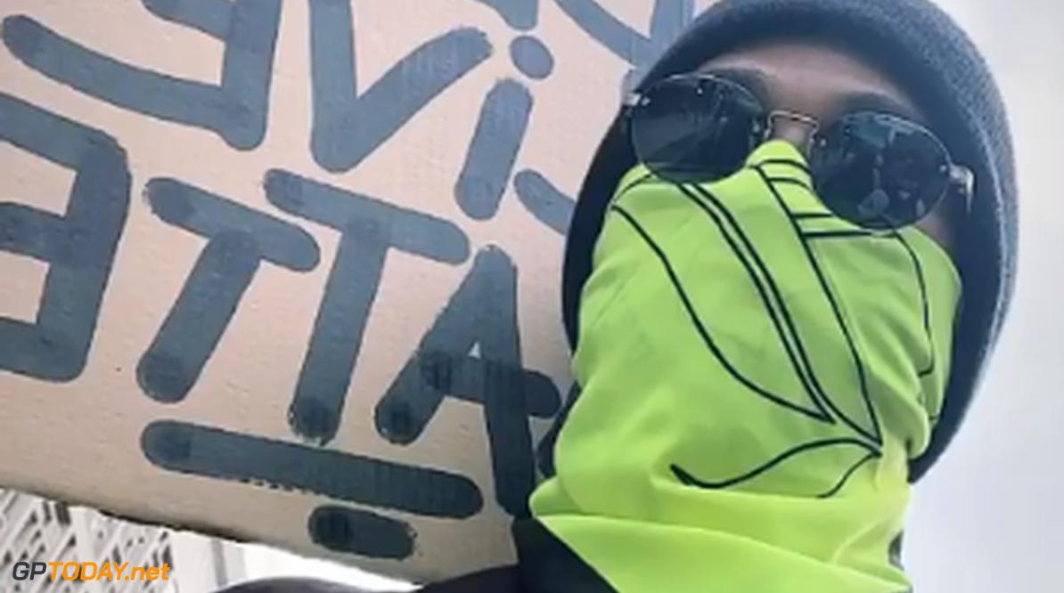 Lewis Hamilton nam deel aan Black Lives Matter-protest in Londen
