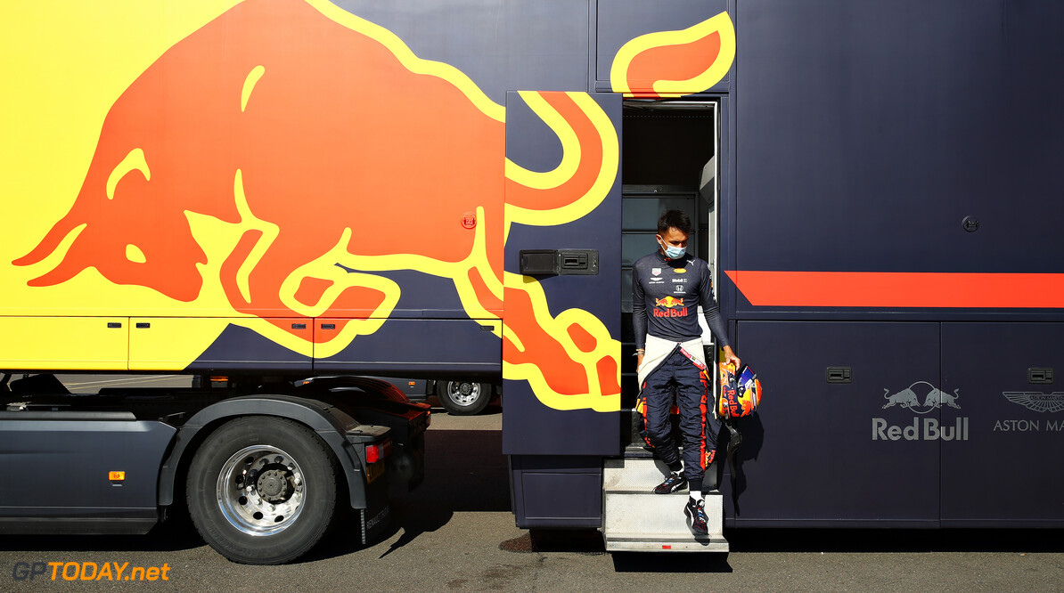 NORTHAMPTON, ENGLAND - JUNE 25: Alexander Albon of Thailand and Red Bull Racing walks to the garage during the Red Bull Racing RB16 Filming Day at Silverstone Circuit on June 25, 2020 in Northampton, England. (Photo by Mark Thompson/Getty Images) // Getty Images / Red Bull Content Pool  // AP-24EDTJY5S1W11 // Usage for editorial use only //  Red Bull Racing RB16 Filming Day     AP-24EDTJY5S1W11