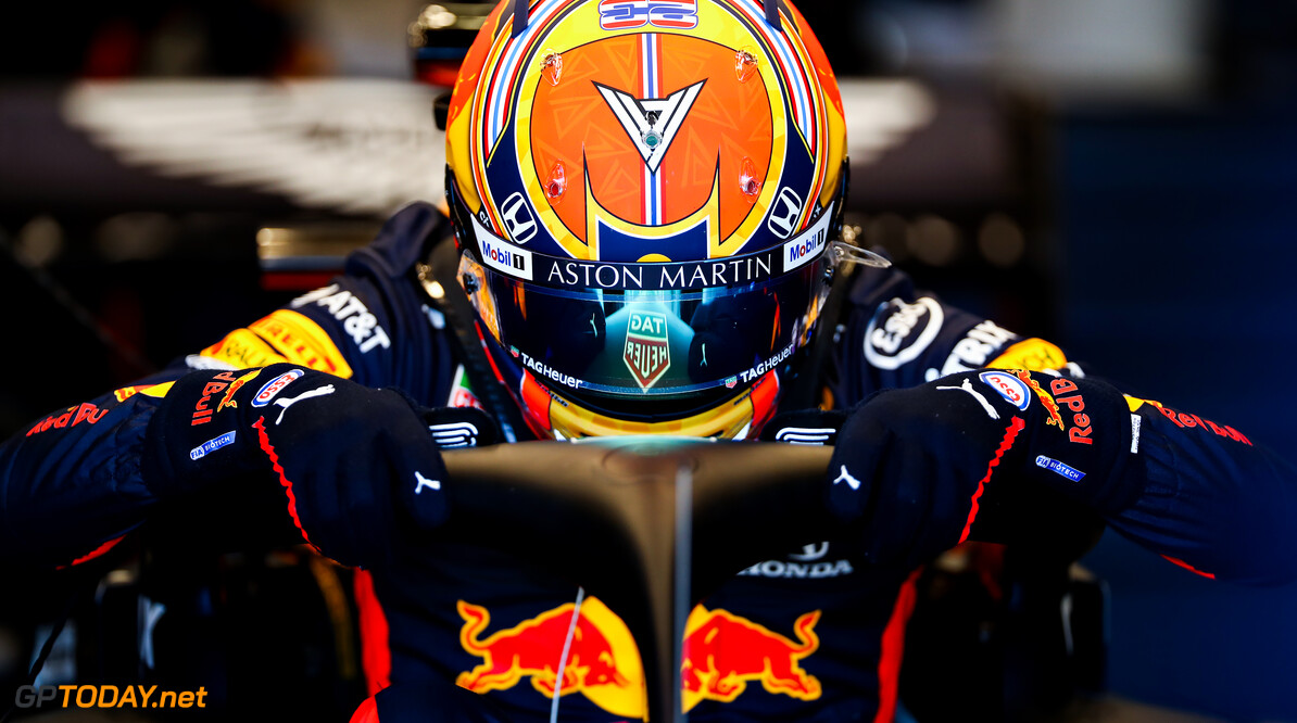 NORTHAMPTON, ENGLAND - JUNE 25: Alexander Albon of Thailand and Red Bull Racing prepares to drive in the garage during the Red Bull Racing RB16 Filming Day at Silverstone Circuit on June 25, 2020 in Northampton, England. (Photo by Mark Thompson/Getty Images) // Getty Images / Red Bull Content Pool  // AP-24EED42WW1W11 // Usage for editorial use only //  Red Bull Racing RB16 Filming Day     AP-24EED42WW1W11