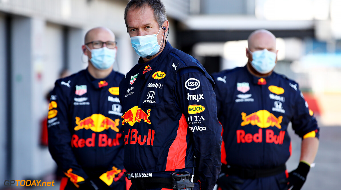 NORTHAMPTON, ENGLAND - JUNE 25: Red Bull Racing team members look on in the Pitlane during the Red Bull Racing RB16 Filming Day at Silverstone Circuit on June 25, 2020 in Northampton, England. (Photo by Mark Thompson/Getty Images) // Getty Images / Red Bull Content Pool  // AP-24EED4SS92111 // Usage for editorial use only //  Red Bull Racing RB16 Filming Day     AP-24EED4SS92111