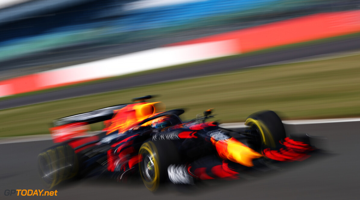 NORTHAMPTON, ENGLAND - JUNE 25: Alexander Albon of Thailand driving the (23) Aston Martin Red Bull Racing RB16 on track during the Red Bull Racing RB16 Filming Day at Silverstone Circuit on June 25, 2020 in Northampton, England. (Photo by Dan Istitene/Getty Images) // Getty Images / Red Bull Content Pool  // AP-24EEHVEAN2111 // Usage for editorial use only //  Red Bull Racing RB16 Filming Day     AP-24EEHVEAN2111