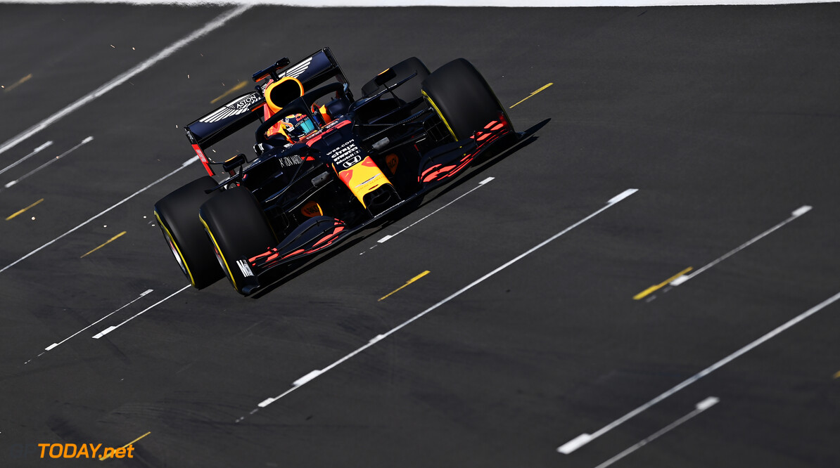 NORTHAMPTON, ENGLAND - JUNE 25: Alexander Albon of Thailand driving the (23) Aston Martin Red Bull Racing RB16 on track during the Red Bull Racing RB16 Filming Day at Silverstone Circuit on June 25, 2020 in Northampton, England. (Photo by Clive Mason/Getty Images) // Getty Images / Red Bull Content Pool  // AP-24EEHV93S1W11 // Usage for editorial use only //  Red Bull Racing RB16 Filming Day     AP-24EEHV93S1W11