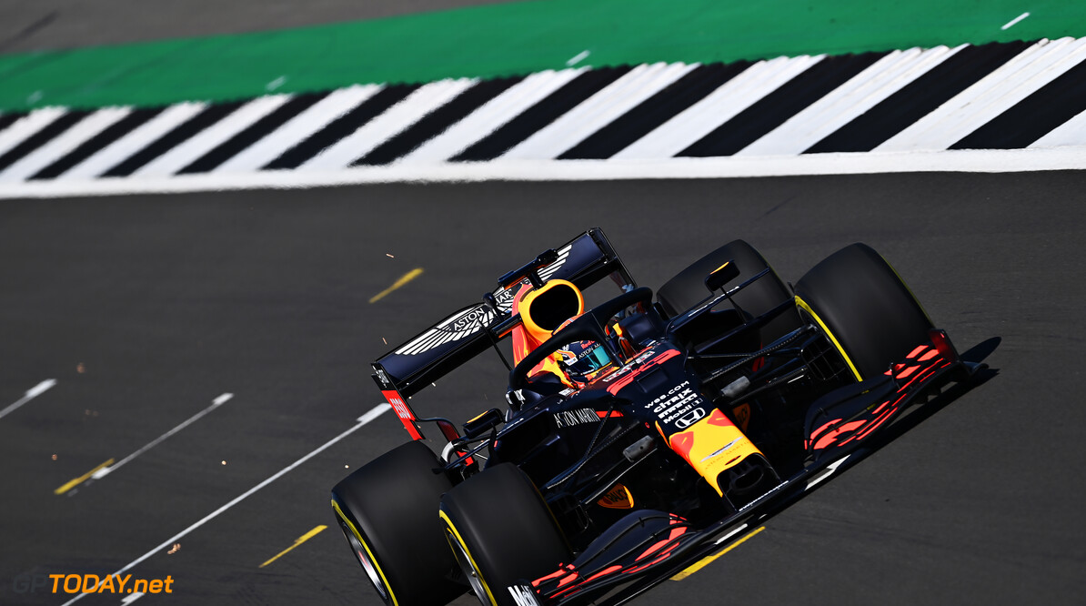 NORTHAMPTON, ENGLAND - JUNE 25: Alexander Albon of Thailand driving the (23) Aston Martin Red Bull Racing RB16 on track during the Red Bull Racing RB16 Filming Day at Silverstone Circuit on June 25, 2020 in Northampton, England. (Photo by Clive Mason/Getty Images) // Getty Images / Red Bull Content Pool  // AP-24EEHNFQN2111 // Usage for editorial use only //  Red Bull Racing RB16 Filming Day     AP-24EEHNFQN2111