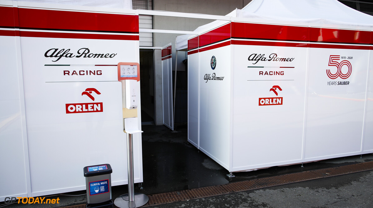 Alfa Romeo Racing ORLEN Team, paddock atmosphere during the Formula 1 Rolex Grosser Preis von Osterreich 2020, Austrian Grand Prix from July 02 to 05, 2020 on the Red Bull Ring, in Spielberg, Austria - Photo Florent Gooden / DPPI F1 - AUSTRIAN GRAND PRIX 2020  Florent Gooden Spielberg Austria  2020 AUTRICHE Austria FORMULA 1 FORMULE 1 FORMULE UN GRAND PRIX MARS MOTOR RACING Motorsport Red Bull Ring Spielberg europe f1