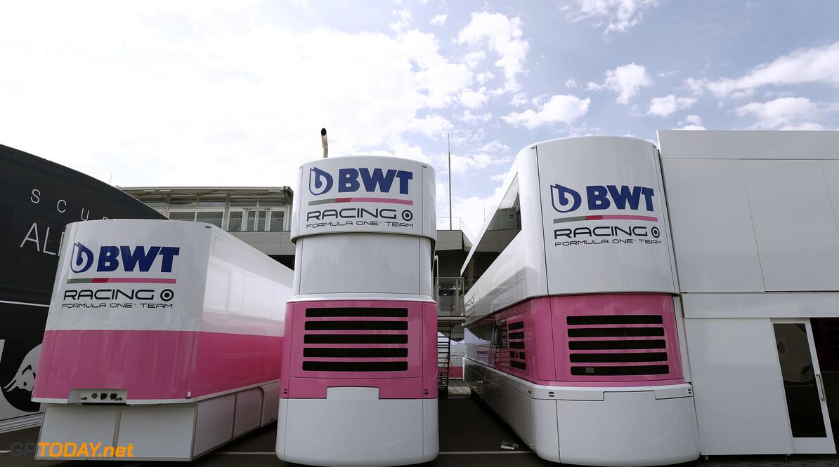 Racing Point transporters.  Glenn Dunbar Spielberg Austria  setup